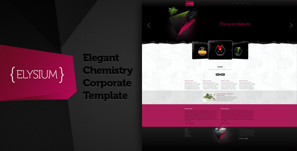 Elysium -Elegant Chemistry Corporate Theme Template Corporate