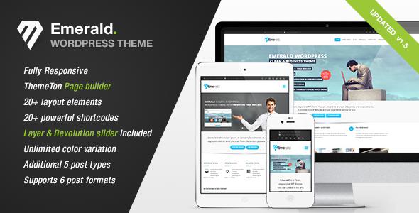 Emerald - Modern and Elegant theme for Corporate WordPress