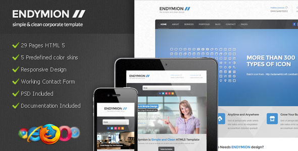 Endymion - Simple & Clean Corporate Template Corporate