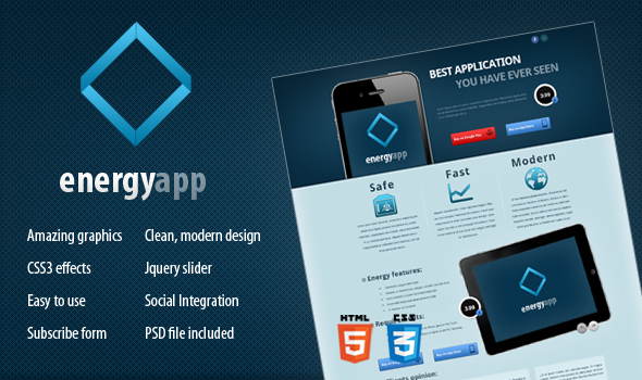 Energy App - Landing Page LandingPages Landing Page