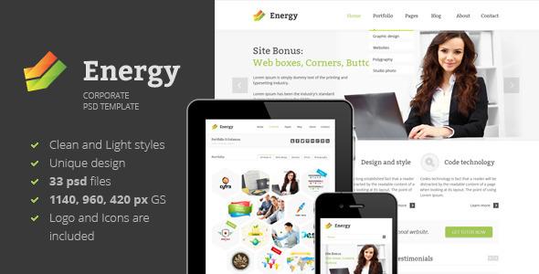 Energy - PSD Template Corporate