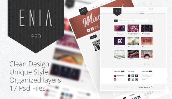 Enia - Professional PSD template Creative