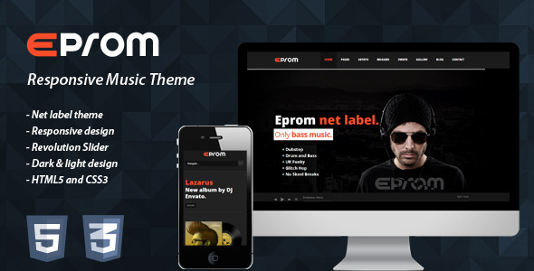 Eprom - Responsive Music Theme Template Entertainment