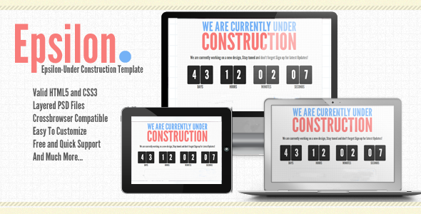Epsilon-Under Construction or coming soon Template Specialty Page