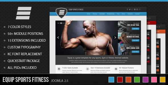 Equip Joomla Sports and Fitness Theme Retail