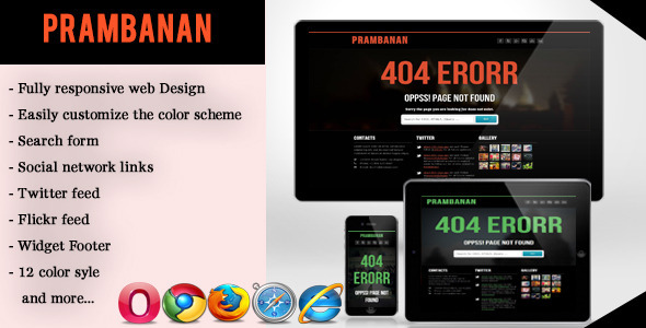 Error - Responsive Error Page Template Specialty Page