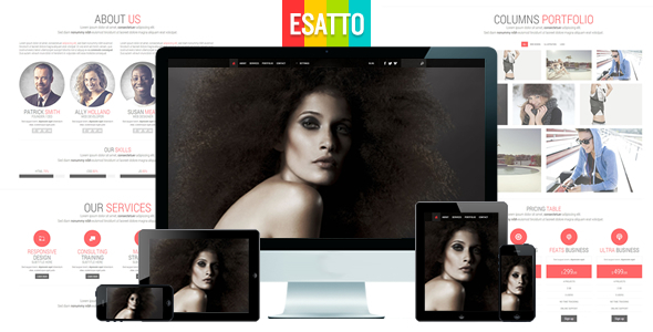 Esatto - One Page Responsive Bootstrap Template Corporate