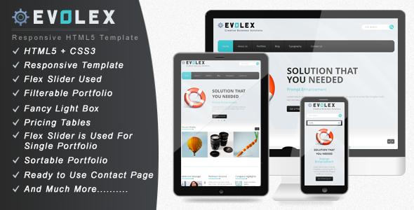 Evolex - Responsive Business Website Template Corporate