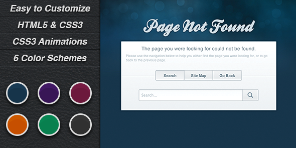 Evolve 404 - Error Pages Template Specialty Page