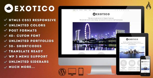 Exotico - Responsive WordPress Theme (1200p) Creative