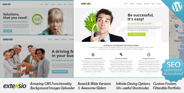 Extensio - Elegant and Minimal Business WordPress Corporate