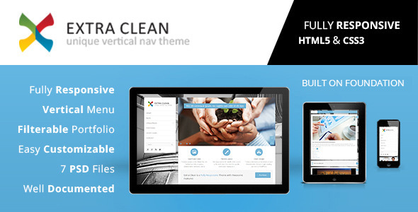 Extra Clean - Responsive HTML5 Template Corporate