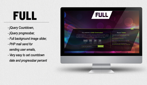 FULL - Coming Soon HTML/CSS Template Creative