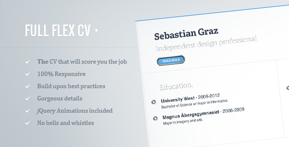 FULL FLEX CV - Fully Responsive HTML5 Resume Template Specialty Page