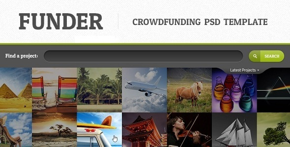 FUNDER - One Page Crowdfunding PSD Template Miscellaneous