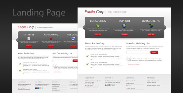 Facile Corp - Clean and Professional Landing Page LandingPages