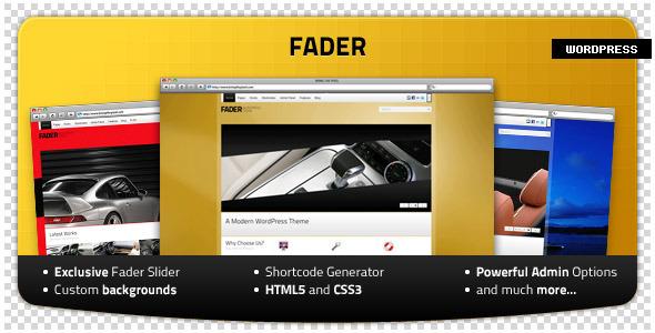 Fader - Professional WordPress Theme Corporate
