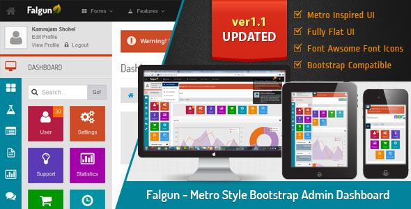Falgun - Metro Style Bootstrap Admin Dashboard Template