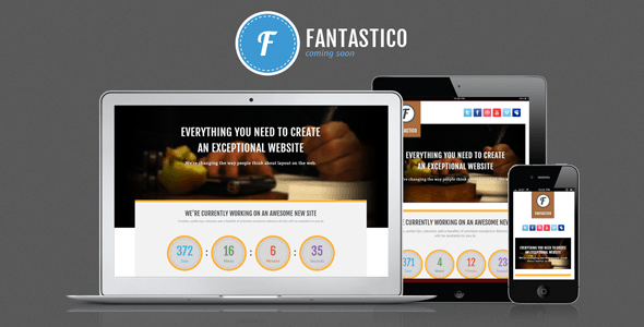 Fantastico Coming Soon Template Specialty Page