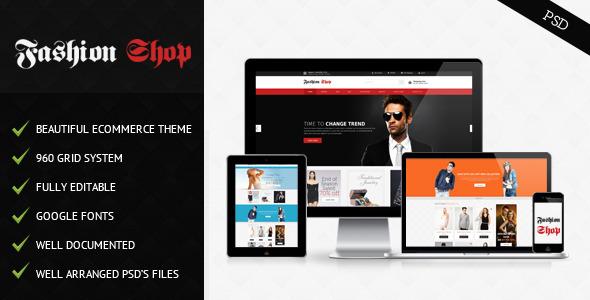 Fashion Shop PSD Retail