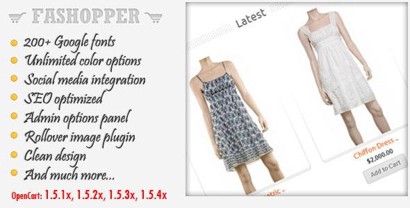 Fashopper - Premium OpenCart Theme Fashion