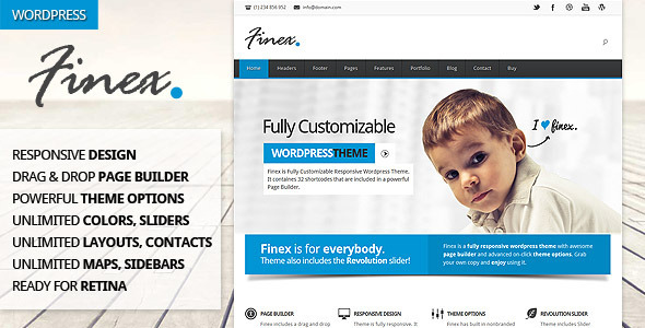 Finex - Responsive Multi-Purpose Wordpress Theme Corporate