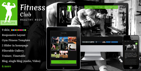 Fitness Club - Responsive Gym Fitness Template Corporate