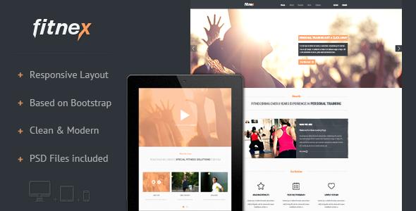 Fitnex - Responsive HTML Landing Page LandingPages Landing Page