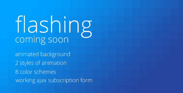 Flashing - Coming Soon Page Template Specialty Page