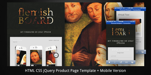 Flemish Board–HTML5 Product Page+Mobile Version LandingPages