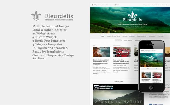 Fleurdelis - Modern Magazine Theme WordPress Blog/Magazine
