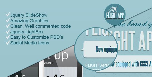 Flight App - Premium Landing Page LandingPages Landing Page