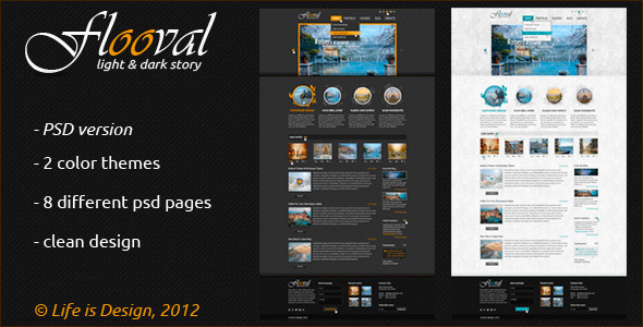 Flooval story of light and dark PSD Creative