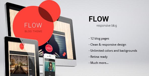 Flow - responsive blog/personal template Creative