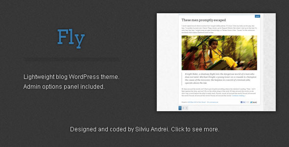 Fly - Lightweight WordPress Blog Theme Blog/Magazine