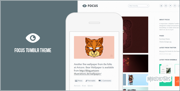 Focus - A Minimalistic Tumblr Theme