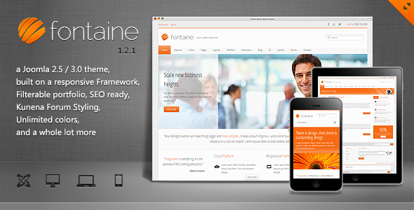 Fontaine - Clean Responsive Joomla Template Corporate