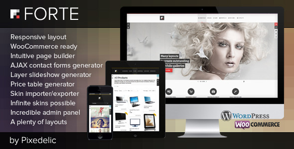 Forte multipurpose WP theme (eCommerce ready) WordPress eCommerce
