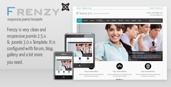 Frenzy - Clean Responsive Joomla Business Template Corporate