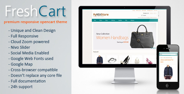 FreshCart - Responsive Fashion OpenCart Template Fashion