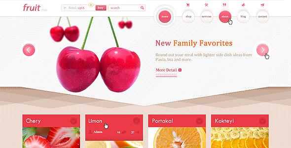 Fruit Shop PSD Retail