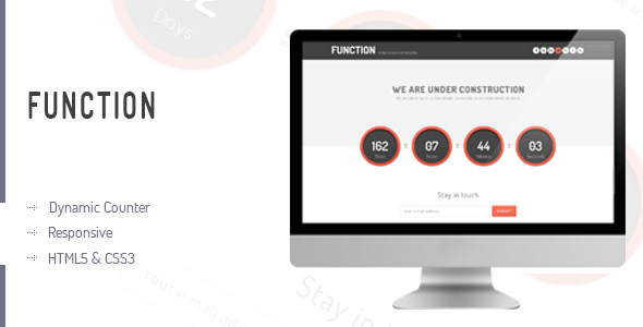 Function - Responsive Coming Soon Page Template Specialty Page