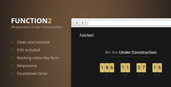 Function2 - Responsive Under Construction Page Template