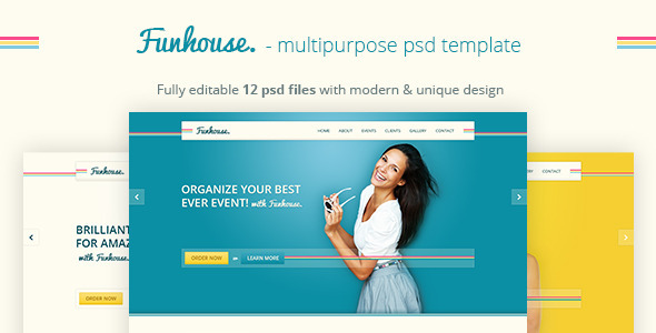 Funhouse - Creative Agency PSD Template Entertainment