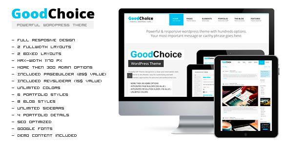 GOODCHOICE - Responsive Multi-Purpose Theme WordPress Corporate