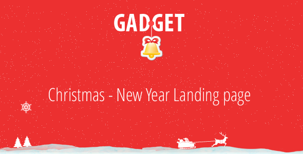 Gadget - Christmas - New Year Landing Page LandingPages Landing Page