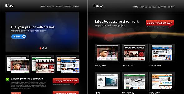 Galaxy Pro Theme Corporate PSDTemplates