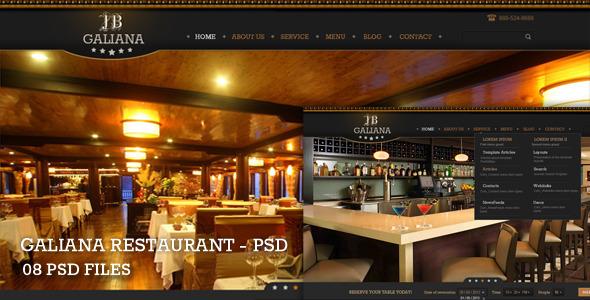 Galiana Restaurant - PSD Retail