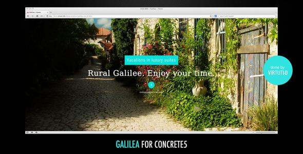 Galilea–Small Hotel Theme For C5 + RTL Version