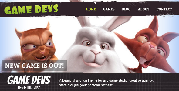 Game Devs HTML Template Corporate